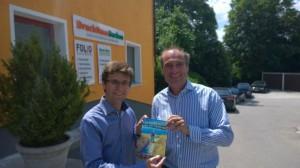 Oberbürgermeister Florian Hartmann mit Christian Seebauer