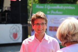 OB Florian Hartmann am Dachauer Altstadtfest